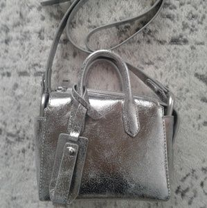 NWT J.Crew Metallic Harper Mini Satchel